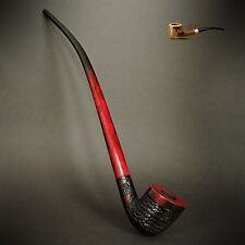 "TOBACCO SMOKING PIPE  Gandalf Hobbit CHURCHWARDEN  EXTRA LONG 14""  Red Rustic"