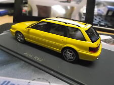 Audi s2 rs2 Avant coche familiar Porsche Yellow amarillo 1994 neo resin 1:43