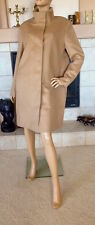 UNIQLO WOMEN BEIGE CASHMERE BLENDED STAND COLLAR COAT NWT SIZE XL 149.90$