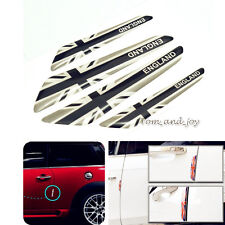 4pcs Black Union Jack Side Door Edge Protection Sticker Cover for Mini Cooper