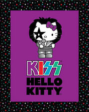 Hello Kitty by Kiss Catalog Patchwork Fabric Panel - KISS Rock, HK20052
