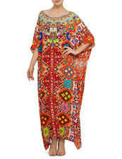 new CAMILLA FRANKS SILK SWAROVSKI MIRROR DANCE ROUND NECK KAFTAN DRESS layby ava