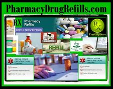 Pharmacy Drug Refills.com  Tablets Pills Medicine Prescription On Time Mail Box