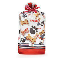 Puppy Dog TREATS Bone Goody Birthday Party Favor Halloween Cello Clear Bags-larg