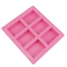 Rectangle 6-Cavity Soap Mold Cake ice Silicone Mould Tray for Homemade Craft DIY
