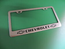 "(1pc)"" CHEVY "" Stainless Steel license plate frame LL"