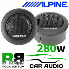 "ALPINE SXE-1006TW 1""  280 Watts Car & Van Tweeters Speaker Set Sold as a Pair"