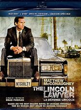 NEW BLU-RAY-DVD COMBO // THE LINCOLN LAWYER // Matthew McConaughey, Marisa Tomei