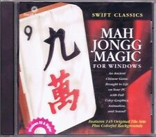 MAH JONGG MAGIC GAME PC SOFTWARE CD ROM WINDOWS DISC COMPLETE FREE USA SHIPPING!