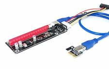 New PCIe PCI-E x1 to x16 Riser Card USB3.0 Extender Cable External Powered 50cm