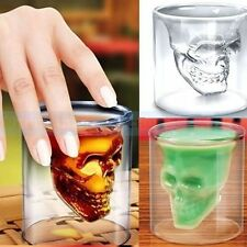 Novelty Double Layer Skull Head Drinking Cup Shot Glass for Whiskey/Vodka/Beer u