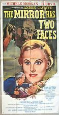 "US 3 sheet 41""x81"" movie poster MIRROR HAS TWO FACES Mirroir a deux  Film 1959"