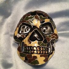 CAMO SKULL HEAD BELT BUCKLE SKELETON HEAD CAMOUFLAGE