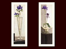 Ina van Toor 2er Set 'In Glas' + 'Purple I' Poster Bild Kunstdruck 70x25cm