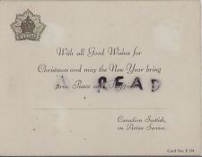 WW2 Military Greetings Card Canadian Scottish Canadian Expeditionary Force