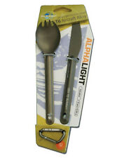 Alpha Light Ultralight Alloy 2 Piece Knife & Spork Set, Sea to Summit Cutlery