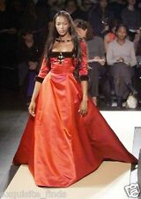 A/W 1999 ICONIC OSCAR DE LA RENTA RED DRESS GOWN