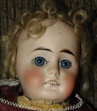 ANTIQUE BISQUE Doll LOTS OF TEETH! Germany 305 NICE BLUE EYES!
