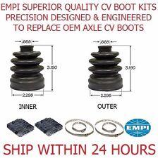 2 FRONT INNER OUTER ATV CV Boot Kit 2348 FIT 2008-2010 POLARIS SPORTSMAN 400 4X4