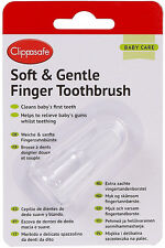 Clippasafe SOFT & GENTLE FINGER TOOTHBRUSH Baby/Toddler Bath Time Hygiene BN