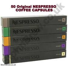 50 ORIGINAL NESPRESSO COFFEE CAPSULES PODS - STRONG VARIETY PACK. POPULAR BLENDS