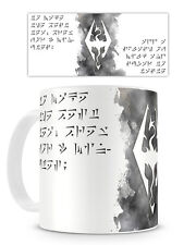 SKYRIM MUG - Cup 11oz Coffee Tea Elder Scrolls Dragonborn Novelty Geek Gamer