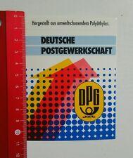 Aufkleber/Sticker: Deutsche Postgewerkschaft (100816178)