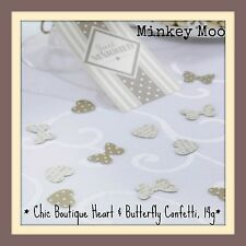 Chic Boutique Vintage Heart & Butterfly Table Confetti 14g Gold & Ivory Wedding