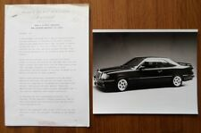 MERCEDES Lorinser 124 COUPE 1987 ORIG UK inchiostri WOOD & PICKET comunicato stampa + FOTO