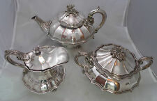 Georgian Crested Old Sheffield Plated Tea Set