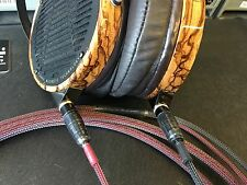 Ultimate Audeze LCD-2, LCD-3, LCD-4, & LCD-XC Headphone 7ft SILVER Cable Upgrade