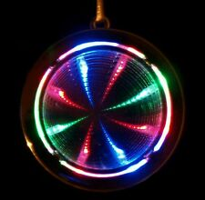 1x Rave Festival Psychedellic Infinity Tunnel LED Light Up Toy Necklace Pendant