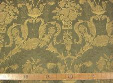 Möbelstoff Polsterstoff edel barockes Muster grün-altgold 140 cm Stilmöbel NEU