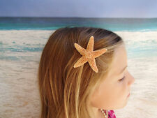 Sugar Starfish Hairclip - Beach Hair Clip Halloween Mermaid Costume Orange Ariel