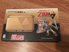 """NIB"" NINTENDO 3DS XL, Gold – Zelda Limited Edition Bundle A Link Between Worlds"
