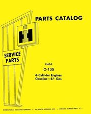 International Farmall 201 Windrower T-5 TC-5 330 340 135 Gas Engine Parts Manual