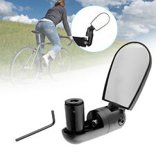 Bike Bicycle Cycling Handlebar Glass Flexible Rear View Rearview Mirror