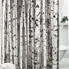 NEW Shower Curtain Fabric Waterproof Bathroom Tree Design Polyester 12 Hooks