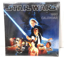 """1990 Star Wars  Wall Calendar-Scenes from the Movie Series- 12""""x12""""  SEALED"""