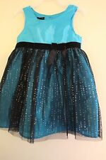 Toddler Girls Holiday Dress Blue Sequined,Shiny 3T Birthday Party Pageant