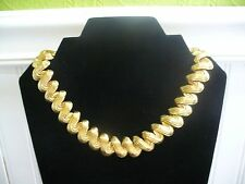 "Vintage Textured Goldtone Metal V Link 17.75"" Necklace"