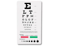 SNELLEN POCKET Medical Eye Exam Test Charts US SELLER Free shipping