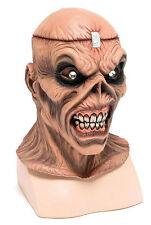 MENS IRON HEAVY METAL MASK EDDIE ZOMBIE OVERHEAD LATEX FANCY DRESS HALLOWEEN NEW