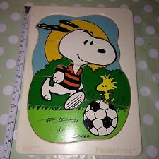 Vintage RARE 1965 Fisher Price PEANUTS SNOOPY Children's Wooden Retro PUZZLE