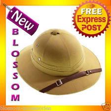 AS29 Mens Womens Khaki Jungle Safari Pith Costume Hat Hunting Helmet