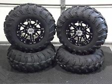 "25"" MUD LITE ATV TIRE & STI HD3 BLK WHEEL KIT LIFETIME WARRANTY COMPLETE POL3CA"
