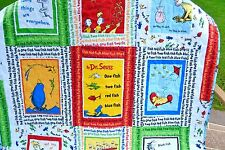 Dr. Suess Baby/Toddler handmade quilt One Fish Two Fish