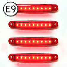 4 X Smd Led Side Marker Light Bus Trailer Waterproof Transporter 12v E-Marked