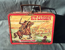 Vintage Disneyland DAVY CROCKETT KIT CARSON 1950s Tin Lunch Box