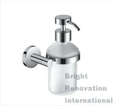Brand New ROYAL Round Bathroom Accessory Solid Brass Chrome Glass Soap Dispenser